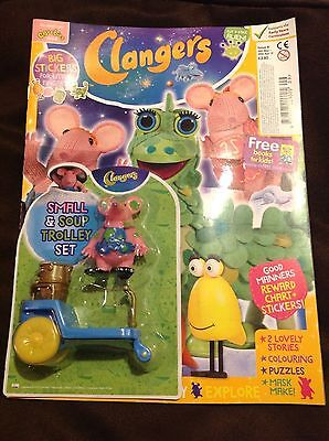 Clangers Magazine - CBeebies - Issue 9 small soup & trolley set