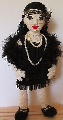 OOAK Handcrafted 1920s Flapper Girl Character Doll, Annette