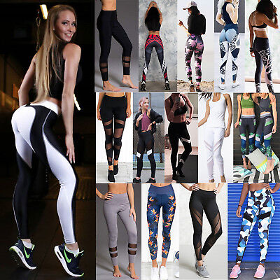 Women Waist Yoga Fitness Leggings Running Gym Stretch Sports Pants Trousers Lot