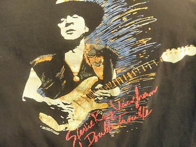 Stevie Ray Vaughan & Double Trouble Original 1990 In Step Tour T-Shirt Size XL