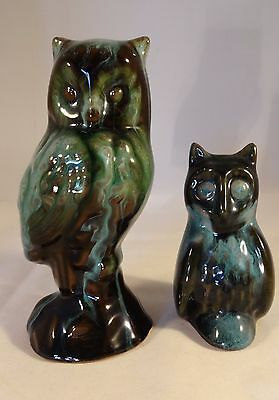 Two Small Blue Mountain Pottery Owls VGC