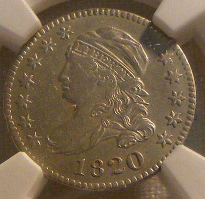 Almost Uncirculated 1820 Capped Bust Dime, NGC AU58