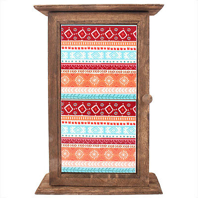 Boho Bandit Wooden Hanging Key Holder Box 27.5cm Wall Mounted Native American
