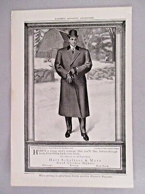 Hart Schaffner & Marx Clothes PRINT AD - 1910 ~~ The Old Manse, Concord, Mass