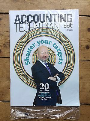 AAT Accounting Technician Magazine Jan/Feb 17 SEALED Shatter Your Targets Issue