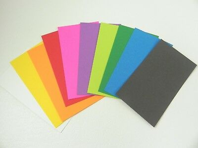 100 ct. Assorted Blank Business Cards 3.5 x 2, Multi, flash cards, note cards