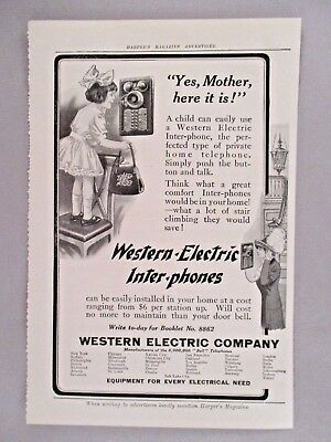 Western Electric Inter-Phone PRINT AD - 1912 ~~ Intercom