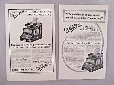 Dalton Adding Machine LOT of 2 PRINT AD - 1912