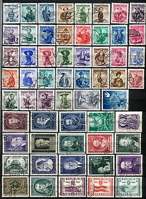 Austria 1948 - 1955 ***** 58 Used Stamps