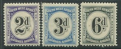 South West Africa 1931 2d, 3d, & 6d Postage Dues mint o.g.
