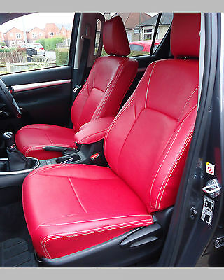 Awe Inspiring Toyota Hilux 7Th Gen Waterproof Tailored Grey Leatherette Short Links Chair Design For Home Short Linksinfo