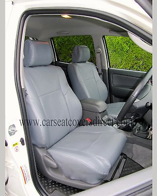 Swell Toyota Hilux 7Th Gen Waterproof Tailored Grey Leatherette Short Links Chair Design For Home Short Linksinfo