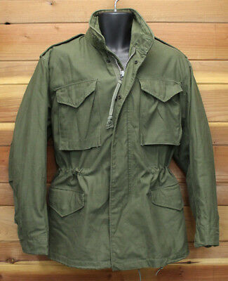 vtg US Army M65 COLD WEATHER FIELD COAT SMALL 1968 Vietnam Green Lined 60s SoSew