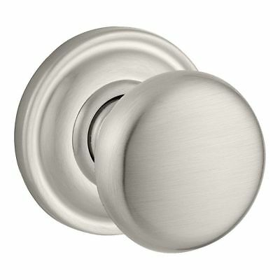 Baldwin PS.ROU.TRR.150.6L.DS Round Passage Knob Traditional Round Rose Satin Nkl
