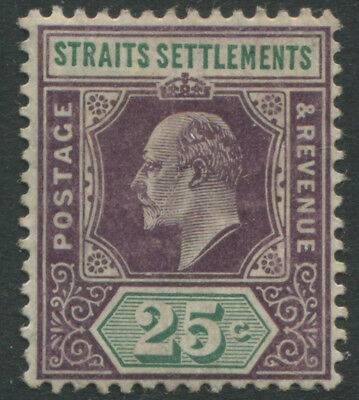 Straits Settlements KEVII 1904 25 cents violet & green mint o.g.