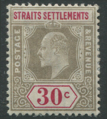 Straits Settlements KEVII 1902 39 cents gray & carmine rose mint o.g.