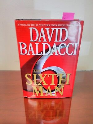 """book fiction mystery Hardcover """"The Sixth Man"""" by author David Baldacci."""