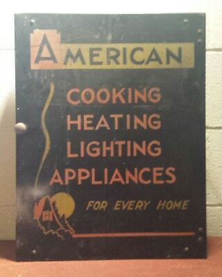 1920 Parts Cabinet ~ Advertising American Cooking Heating Lighting & Appliance
