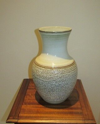 Denby Vase : Bracken : 1980+. Large
