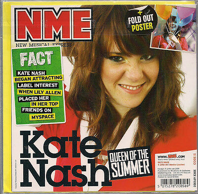 Kate Nash NME Birthday /Greeting Card +Fold Out Poster 2008 New Sealed UK