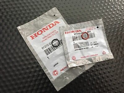 Genuine Oem Honda Acura Power Steering Pump Inlet & Outlet O-Ring Set
