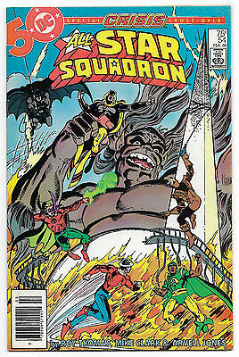 All Star Squadron #54 (Feb 1986, DC Comics) Crisis Cross Over Newsstand Edition