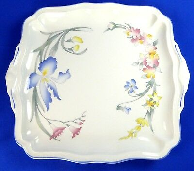 Villeroy & Boch Riviera Cake Plate Platter Tray 9 in Square Handled