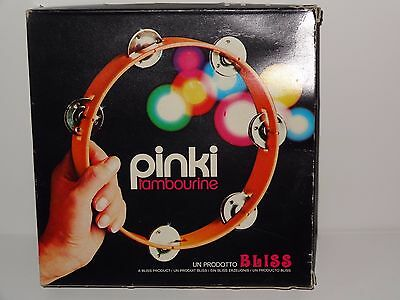 Vintage 1970's Pinki Tambourine by Bliss in Original Box * Made in Italy