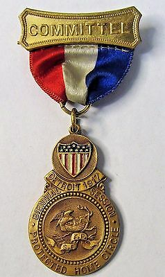 1917 PROTECTED HOME CIRCLE Detroit fraternal insurance medal badge +