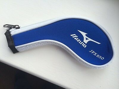 11 MIZUNO JPX 850 Zipped Golf club Iron Headcovers HEAD COVERS vibrant Blue