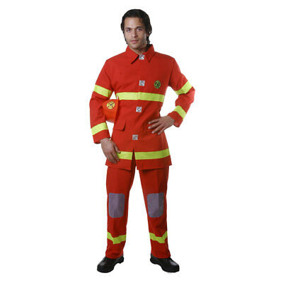 Adult Fire Fighter - Red Costume Fancy Dress Set
