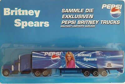 Pepsi Cola - Britney Spears / truck, US Peterbilt 378 + trailer, Scale HO/1:87