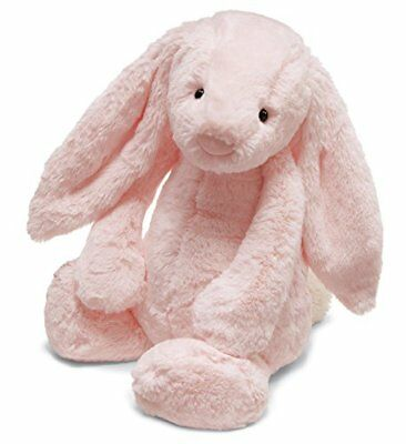 Jellycat Bashful Pink Bunny Chime Rattle 12 inches