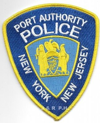 "New York / New Jersey Port Authority  (3.75"" x 4.5) shoulder police patch (fire)"
