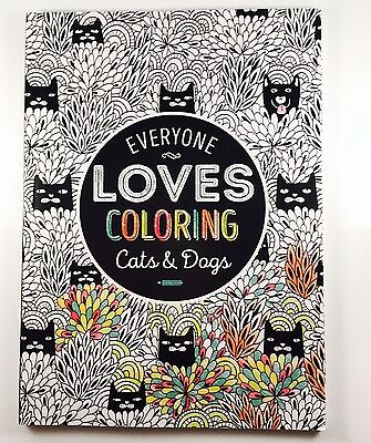 Lot Of 11 Books Everyone Loves Coloring Book Mandalas, Cats & Dogs 40 Pages