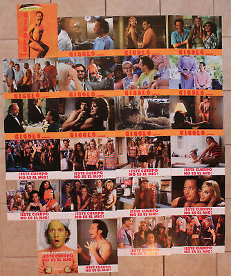 Rob Schneider 2 Spanish lobby cards sets Deuce Bigalow and Hot Chick