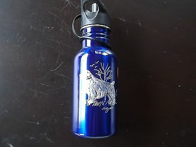 Clumber Spaniel- Beautifully hand engraved Stainless  Water Bottle by Ingrid