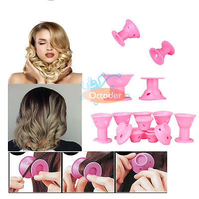10PCS Silicone Hair Curler Magic Hair Care Rollers No Heat Hair Styling Tool DIY