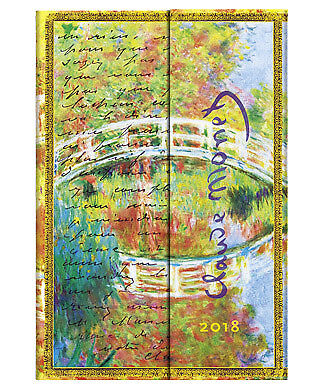 Diary 2018 Paperblanks Monet, Letter to Morisot Mini Week to View HORZ 141x96mm