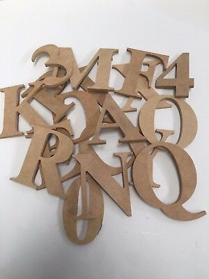New 6.5cm wooden 5mm thick MDF Alphabetical letters numerals numbers standing