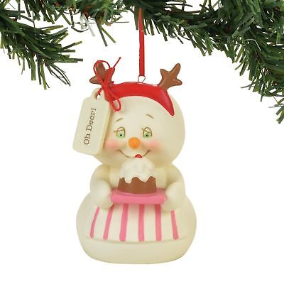 Department 56 Snowpinions New 2017 OH DEER! Snowman Ornament 4057421 Dept 56