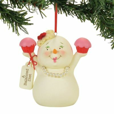 Department 56 Snowpinions New 2017 A BALANCED DIET Snowman Ornament 4058363