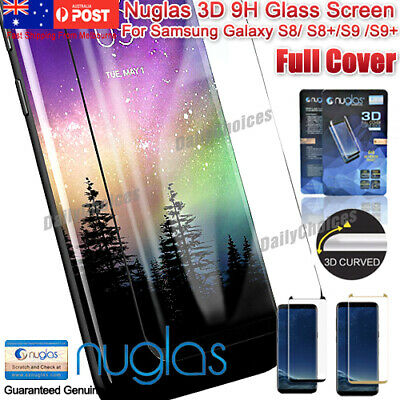 NUGLAS Full Cover Tempered Glass Screen Protector For Samsung Galaxy S8 S9 Plus