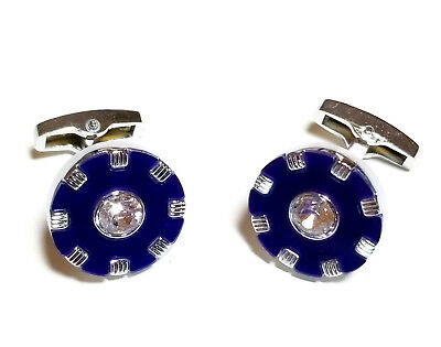 Blue Luxury Weave Cuff Links Silver Men's Luxury Jewelry Cufflinks Sexy Fashion