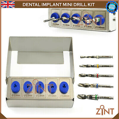 5 Pcs Dental Smart Mini Drill Kit Implant Grafting Tissue Removing Surgical Kit