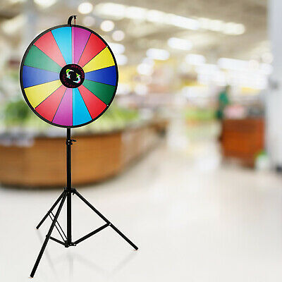 24 Inch Color Prize Wheel Folding Tripod Floor Stand Carnival adjustable