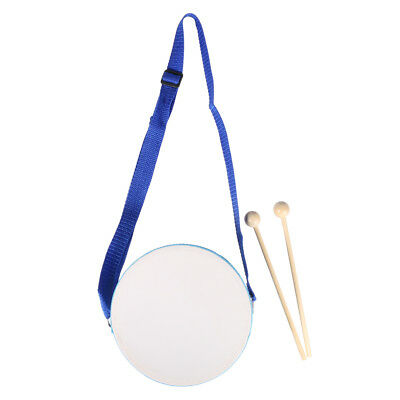 Wooden Drum with Drumsticks Kids Musical Instrument Toy Educational Toy Gift
