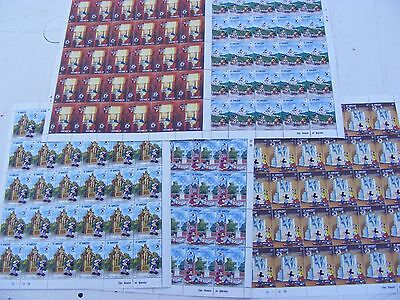 Lot of   30 sets older Disney stamps,..1989 World Stamp Expo(5 sheets).Unused.