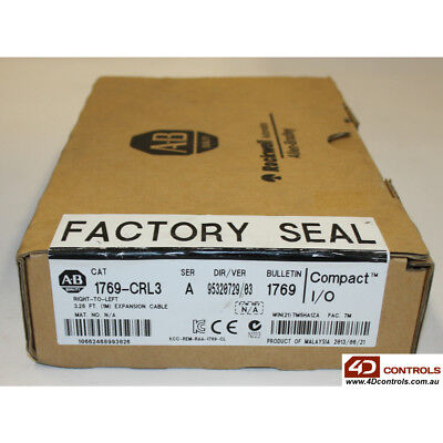 Allen Bradley 1769-CRL3 Compact I/O Right-To-Left Bus Ext Cable - New Surplus...