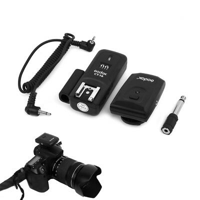 CT-16 16 Channel Wireless Flash Trigger Transmitter Receiver Set for Canon Nikon